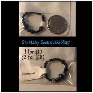 3 Stretchy Swarovski Rings, 1 for $10 2 for $18